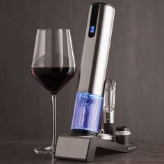 """Opens & Preserves Wine ALL IN ONE…No Buttons Required! """"It's the best!! Easiest to use. Also, looks great on my bar. Watch the video; it's right on.""""  Bill B, Ohio"""