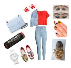 ??? by cansu-celebi on Polyvore featuring polyvore, fashion, style, Monki, H&M, MOA Master of Arts, Rebecca Minkoff, FOSSIL, Burt's Bees and eylure