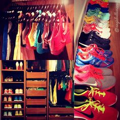 Fitness closet. Work out in style!