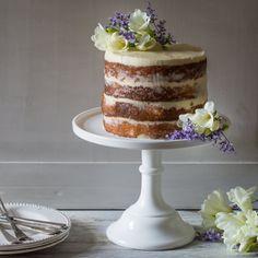 Elderflower & lemon infused sponge with a light mascarpone & elderflower frosting. The perfect summer celebration cake.