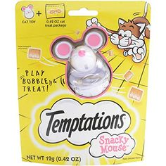 TEMPTATIONS SNACKY MOUSE Cat Toy for Cat Treats ** Learn more by visiting the image link.(This is an Amazon affiliate link)