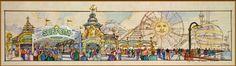Surf City concept (became Paradise Pier), Disney California Adventure, Disneyland Resort - Tim Delaney