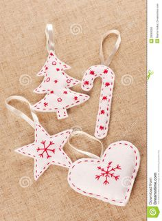 white felt christmas decorations - Google Search