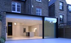 Very nice detail to full height glazed doors. Recessed doodling maximises the glass. www.methodstudio.london
