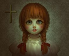 Horror Movie Characters, Horror Films, Horror Art, Scary Art, Creepy, Annabelle Horror, The Conjuring Annabelle, Funny Kid Drawings, Annabelle Doll