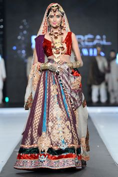 Ali Xeeshan Collection at L'Oreal Paris Bridal Week 2012 Day 2 Desi Wedding Dresses, Pakistani Formal Dresses, Pakistani Bridal Dresses, Indian Wedding Outfits, Indian Dresses, Indian Outfits, India Fashion, Asian Fashion, Fashion 2014