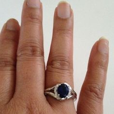 Ring Crystal Blue color 18k gold plated ring(NEW) No Trades. No Holds. No PayPal. Jewelry Rings