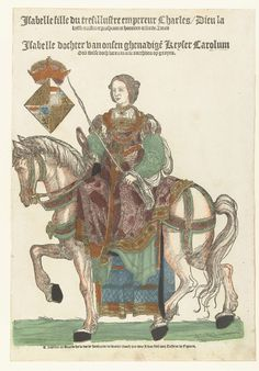 Portrait of Queen Isabella of Portugal on horseback, Cornelis Anthonisz., 1535.