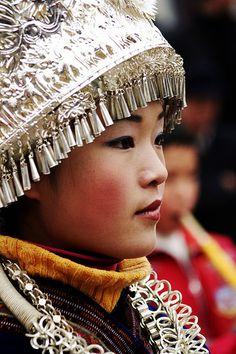 Lusheng musician/dancer, Guizhou, [southwestern] China - http://www.flickr.com/photos/breningstall/2867439473/