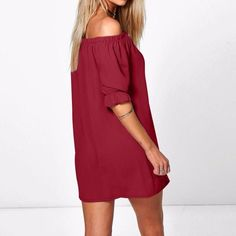 Strapless Half-Sleeve Mini Dress