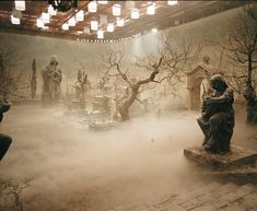 Behind the Scenes from the 2004 film The Phantom of the Opera (Graveyard Set)