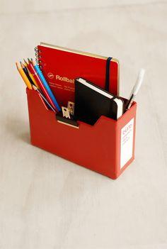 Delfonics - 'Buro' Letter Box - Small - Red