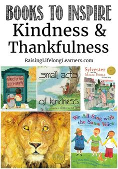 These books to inspire kindness and thankfulness are perfect any time of year!