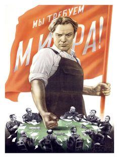 Poster de Propagande Communiste Soviétique Guerre Froide reproduction procédé giclée par Victor Koretsky sur AllPosters.fr