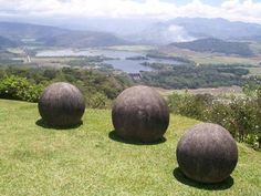 1,000+ year old bosnian stone balls of costa rica. hundreds of them randomly found. hand carved. Pre-Columbian.