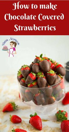 Chocolate dipped fruits are always a treat; especially chocolate covered strawberries. Weather you make these as a special Mother's Day treat or Valentine's Day indulgence these will always be simple, easy and effortless to create. Place them in a bowl on their own or served with whipped cream and Champagne for that added luxury.