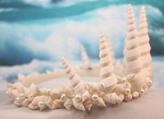 Mermaid twisted seashells and pearls beach Wedding prom costume Tiara/Crown