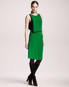 Reed Krakoff Compact Silk Draped Dress, 212 872 2592
