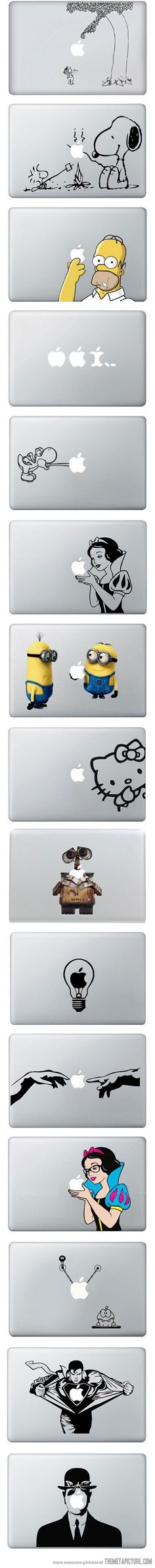 MacBook Vinyl Decals // Love Snoopy!