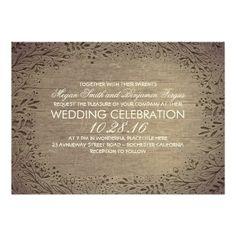 engraved floral wood rustic wedding