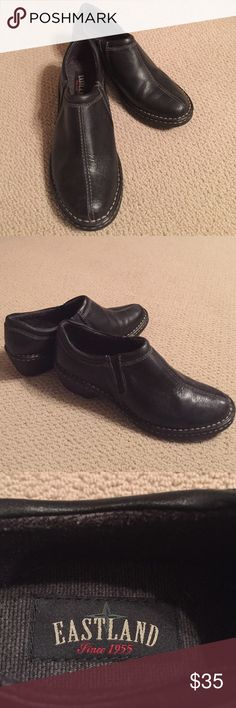 Black Eastland shoes Black leather Eastland shoes. Great condition!  Size 9.5 medium. Eastland Shoes Flats & Loafers
