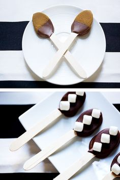 chocolate covered spoons for hot cocoa bar