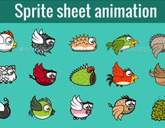 """Check out new work on my @Behance portfolio: """"Sprite sheet animation"""" http://be.net/gallery/50651663/Sprite-sheet-animation"""