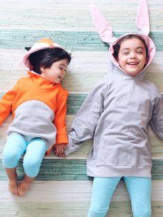 Kids' hooded rabbit sweatshirt. Halloween costume. by bymamma190