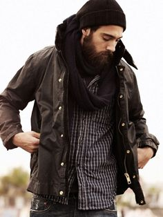 _This is how I imagine my husband will look one day, probably not as fit but someone who loves the outdoors and has a beard...a sexy beard.