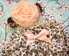 Pink Cheetah Baby Bloomer Diaper Cover and by PetitePeppermint, $13.95