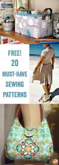 Sewing Tutorials Free With thousands of free sewing patterns to choose from on Craftsy, it can be hard to decide where to start. We'd suggest right here, with our 20 most popular. Easy Sewing Projects, Sewing Projects For Beginners, Sewing Hacks, Sewing Tutorials, Sewing Crafts, Sewing Tips, Sewing Ideas, Bag Tutorials, Love Sewing