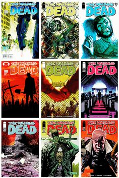 Top 9 - The Walking Dead comic book covers - asked by anonymous
