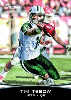 Tim Tebow  Topps Unveils Trading Card with Quarterback in Jets Jersey 252dd106d