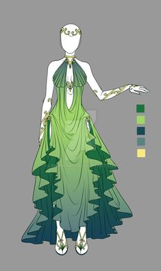 Elvish style. Adoptable outfit by LaminaNati.deviantart.com on @DeviantArt