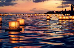 Floating Lantern Festival, Honolulu, Hawaii from Beautiful World, fb Amazing Places On Earth, Oh The Places You'll Go, Places To Travel, Places To Visit, Heavenly Places, Travel Destinations, Floating Lantern Festival, Floating Lanterns, Floating Lights