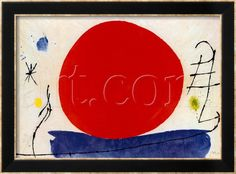 Art.fr - Reproduction d'art 'Le soleil rouge' par Joan Miró