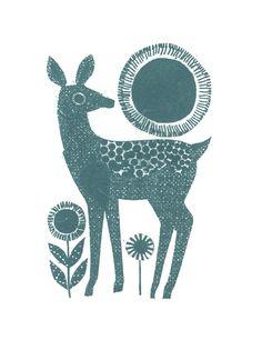 a dear deer by jane ormes. so simple.