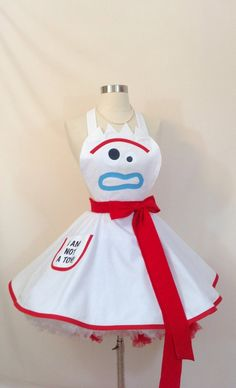 Forky Costume Apron, Toy Story 4 Halloween Costume, Disneybound Toy Story 4 Cosplay, PinUp Apron, Woman's Apron - For Halloween Toy Story Halloween Costume, Toy Story Costumes, Couple Halloween Costumes For Adults, Disney Halloween Costumes, Diy Costumes, Adult Costumes, Halloween Party, Halloween Zombie, Halloween Makeup