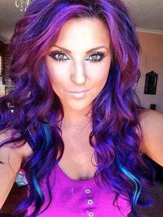 Purple hair..kh