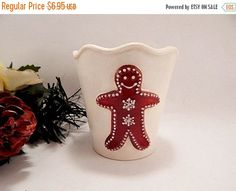 Candle Holder Gingerbread Cup Votive and Tea Light by Holiday365