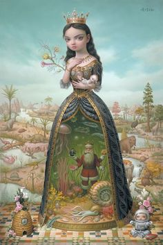 Mark Ryden-husband of Marian Peck. I love that their work really goes hand in hand