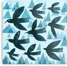"""Birds and mountains"" Metal Prints by Gareth Lucas Vogel Illustration, Digital Illustration, Buy Birds, Botanical Drawings, Animal Sketches, Art Journal Inspiration, Elementary Art, Canvas Art Prints, Framed Prints"