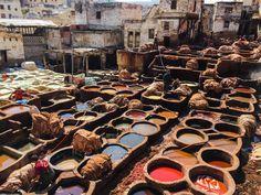 Tannerie de Fès, Maroc Africa, Morocco