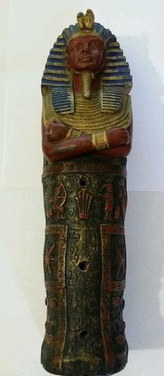Vintage King Tut Sarcophagus Incense Burner