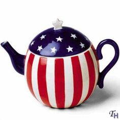 Fitz and Floyd Americana Tea Party Teapot