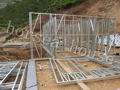 trusses are also being used extensively in the low cost sector. Other applications for building include external and internal facade cladding for commercial and retail buildings. Steel Frame House, Home Technology, Steel Buildings, Steel Structure, Steel Metal, Cladding, Facade, Steel Trusses, Construction