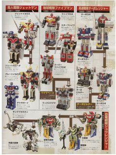 Super Sentai robots 1990-1993