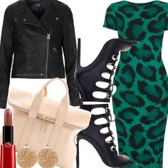 Goodbye Summer, Hello Autumn - animal print, leather jackets, booties, etc. #fashion #trends #zara #topshop #31philliplim #forever21