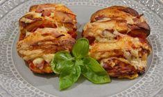 Der perfekte Snack für einen Fußball- oder Filmeabend: Pizzafächerbrötchen, gefüllt mit Schinken, Salami oder für die Vegetarier, eine leckere Gemüsefüllung
