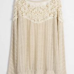 Cupshe Flares And Graces Lace Splicing Top